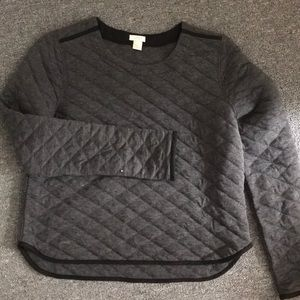 Jcrew quilted sweater